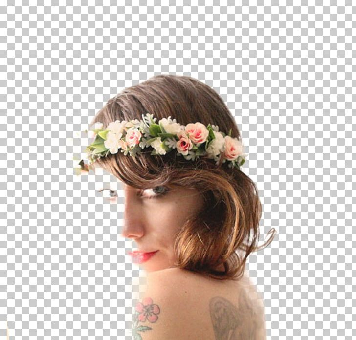 Cut Flowers Floral Design Headpiece Long Hair PNG, Clipart, Bride, Brown Hair, Crown, Cut Flowers, Floral Design Free PNG Download