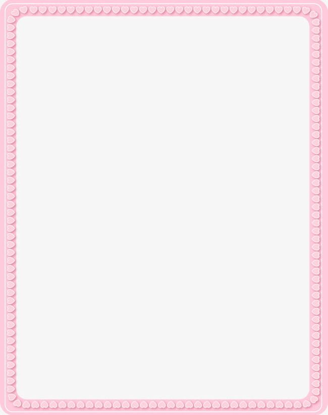 Rectangular Pink Heart-shaped Decorative Border PNG, Clipart ...