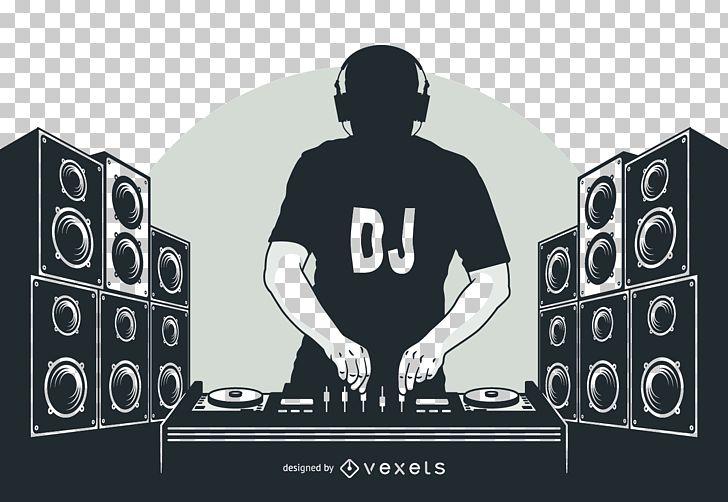 Disc Jockey DJ Mix Nightclub PNG, Clipart, Black And White