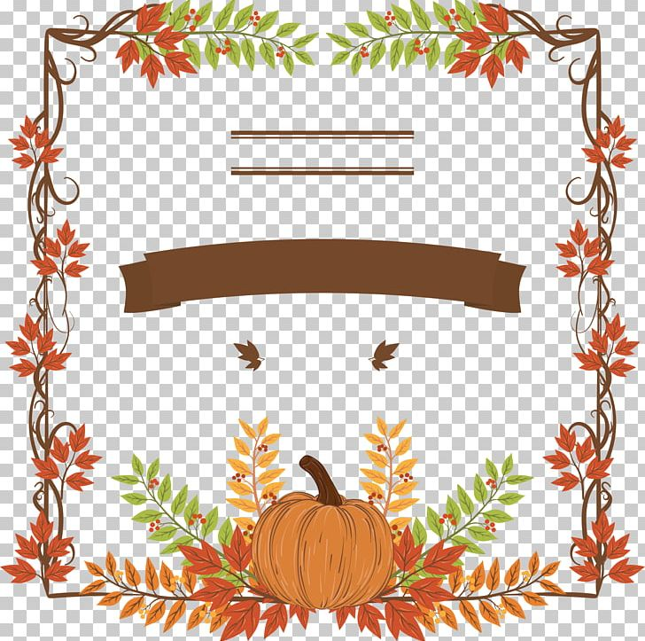 Thanksgiving Dinner Pumpkin Holiday Icon PNG, Clipart, Border, Branch, Cartoon, Christmas Decoration, Clip Art Free PNG Download