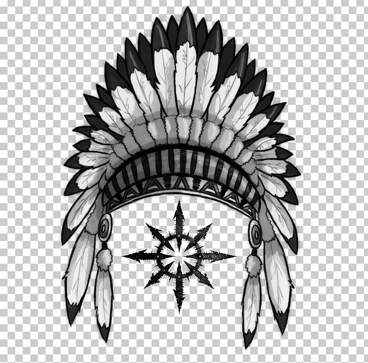 War Bonnet Headgear Native Americans In The United States PNG, Clipart, Black And White, Clip Art, Flower, Flowering Plant, Hat Free PNG Download