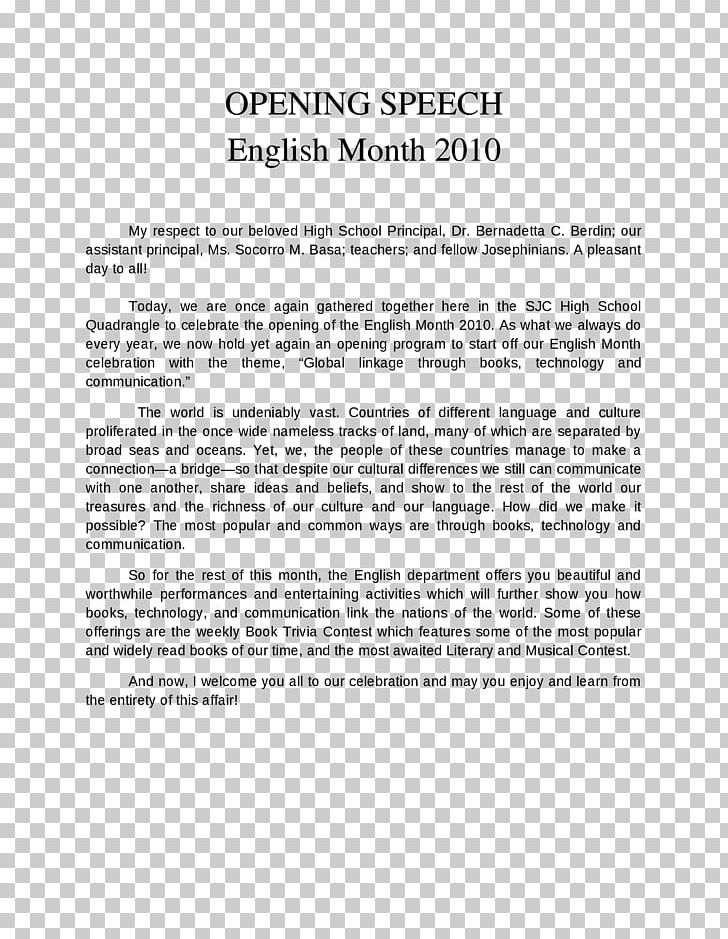 Speech English Head Teacher School Paper PNG, Clipart, Area
