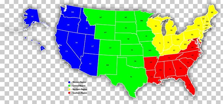 Southern United States Map Western United States Sales ...