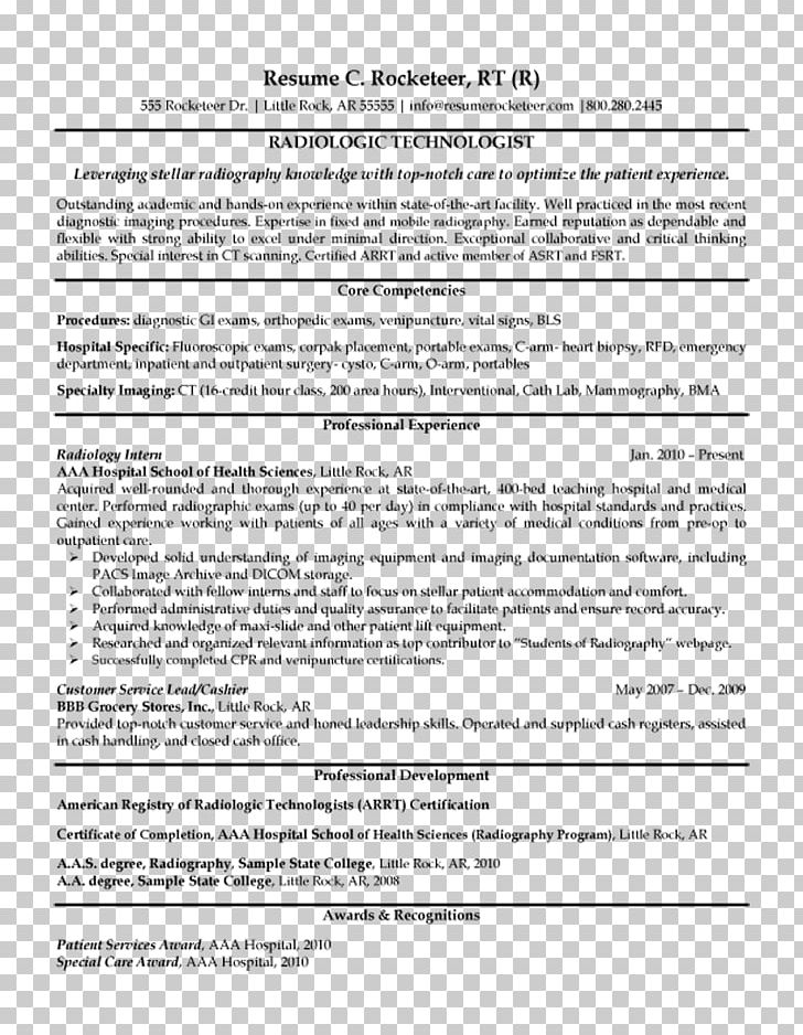 Radiographer Résumé Radiology Cover Letter X-ray PNG, Clipart, Area