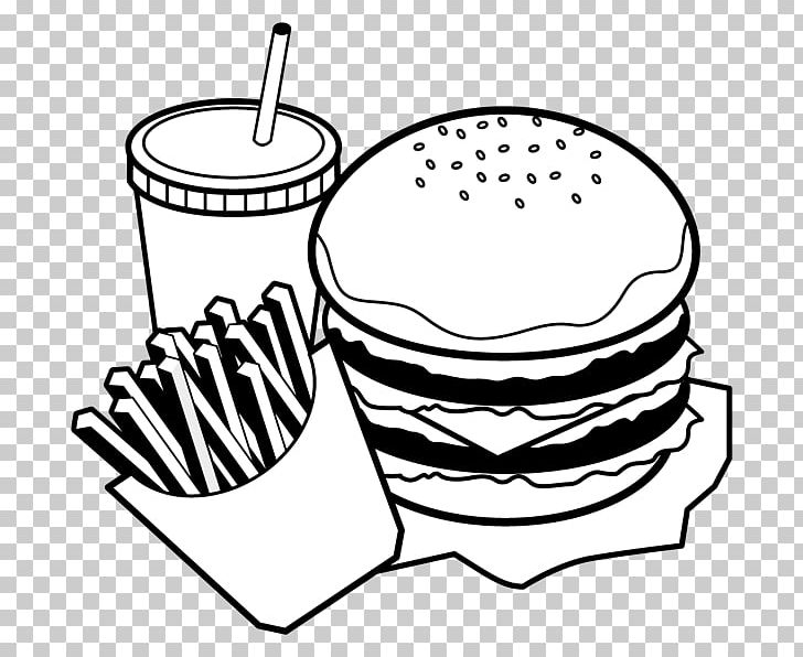 Hamburger Black And White Food Monochrome Painting PNG ...