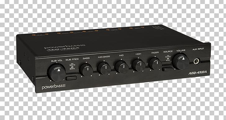 Powerbass Aeq 4xoa 1 2 Din 4 Band Graphic Equalizer Pre Amp