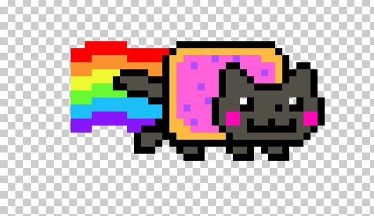 minecraft pixel art nyan cat