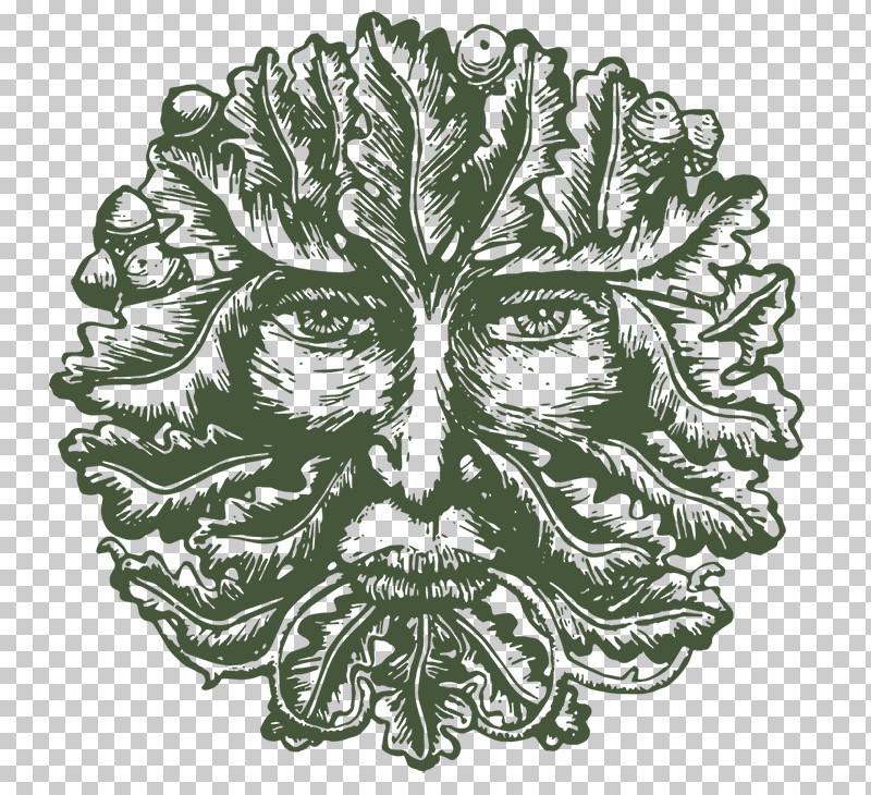 Head Leaf Plant Drawing Headgear PNG, Clipart, Blackandwhite, Drawing, Head, Headgear, Leaf Free PNG Download