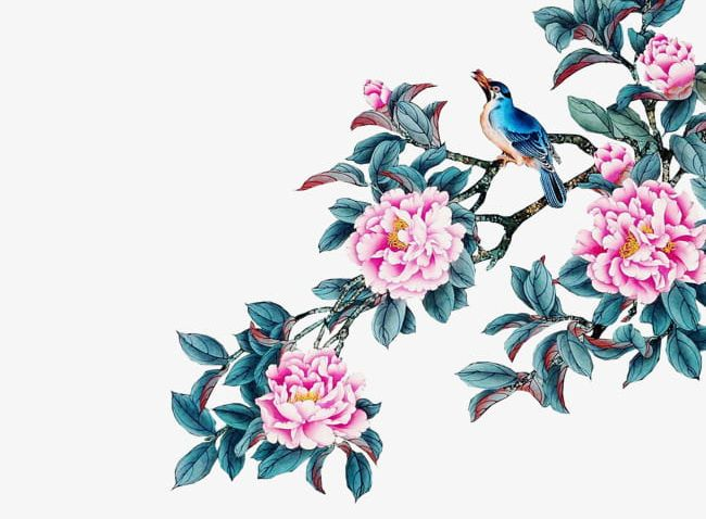 Watercolor Flowers PNG, Clipart, Bird, Blue, Blue Leaves, Branches, Drawing Free PNG Download