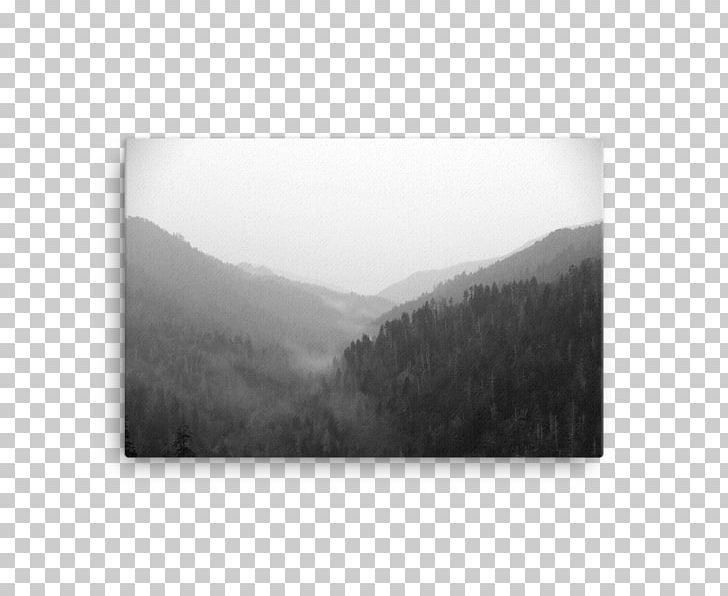 Black And White Landscape Photography PNG, Clipart, Black And White, Canvas Print, Desktop Wallpaper, Fog, Great Smoky Mountains Free PNG Download