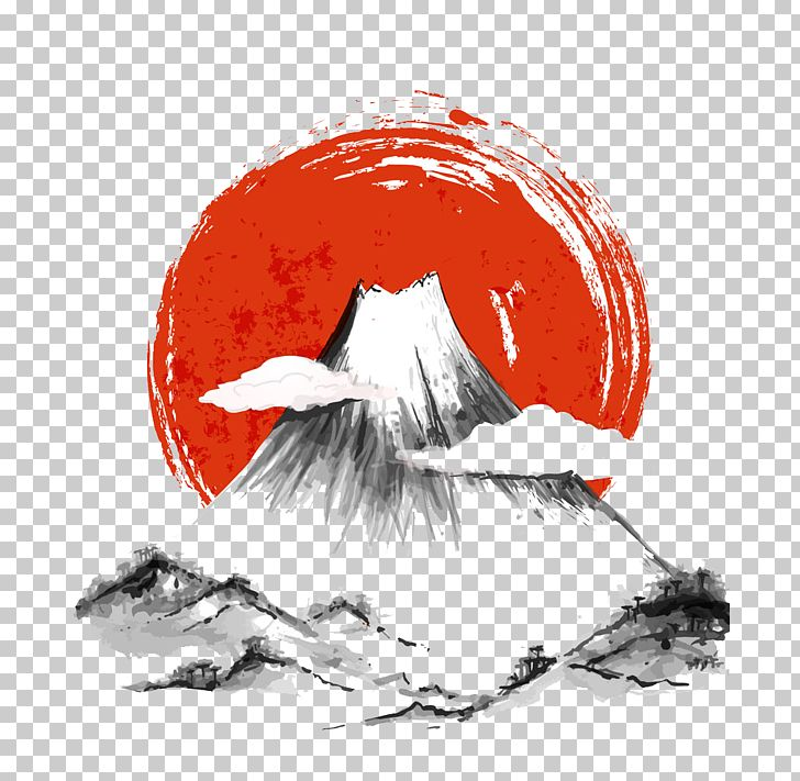 Japan Ink Wash Painting PNG, Clipart, Black And White, Computer Wallpaper, Graphic Design, Ink Splash, Japanese Food Free PNG Download