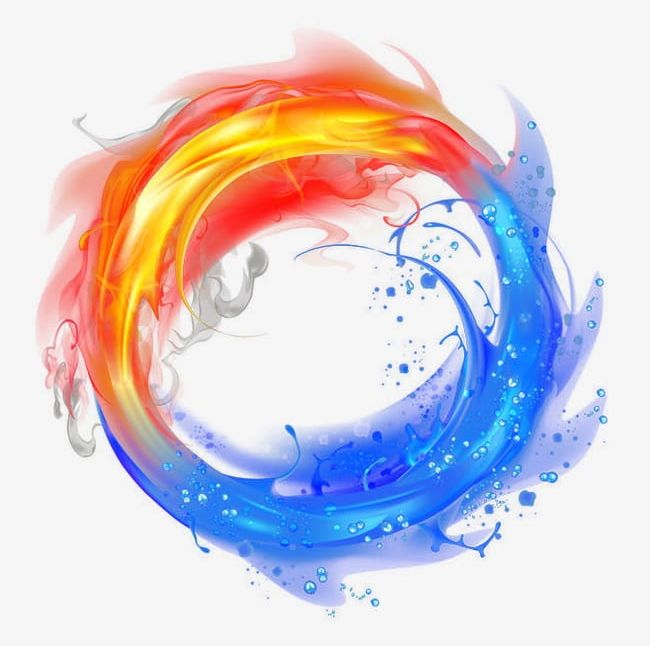 Fire And Ice Png Clipart Abstract Backgrounds Blue