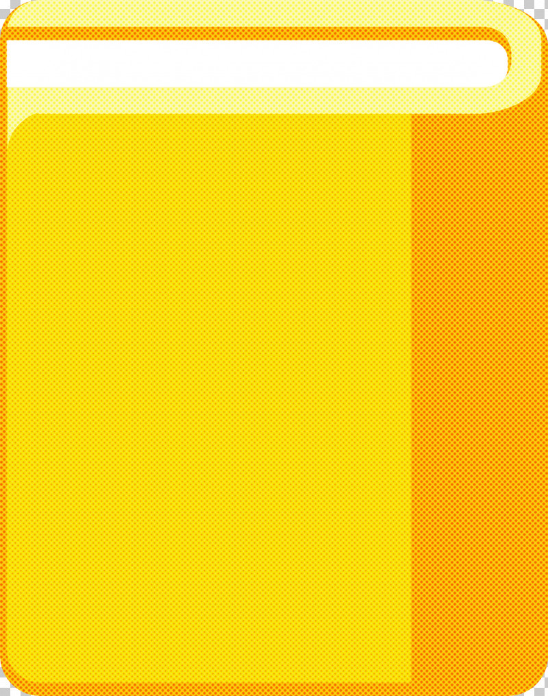 Yellow Rectangle PNG, Clipart, Cartoon Book, Rectangle, School Supplies, Yellow Free PNG Download