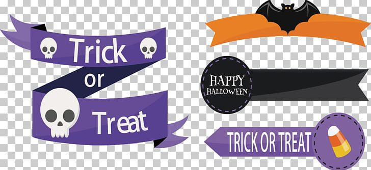 Halloween Ribbon Party PNG, Clipart, Banner, Bat, Birthday, Brand, Festive Elements Free PNG Download