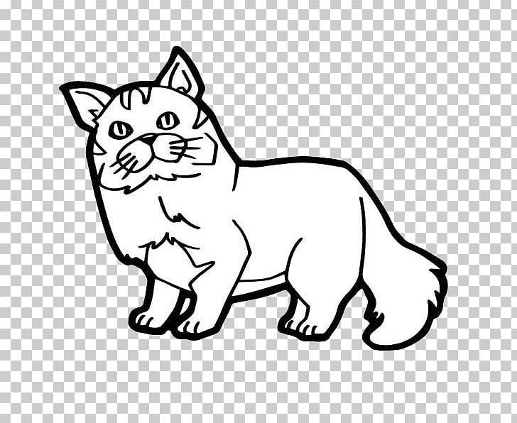 Cat Kitten Coloring Book Illustration PNG, Clipart, Black ...