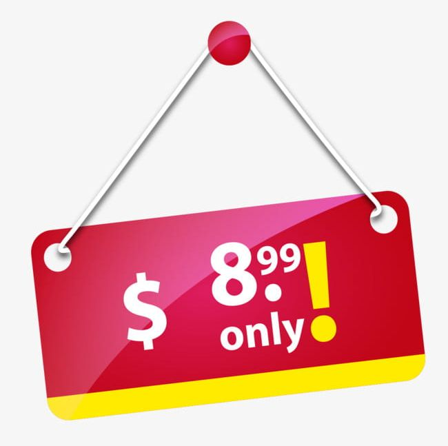 Price tag hang. Red png clipart business