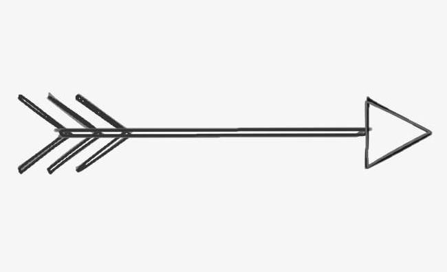 Banner simple. Black arrow creatives png