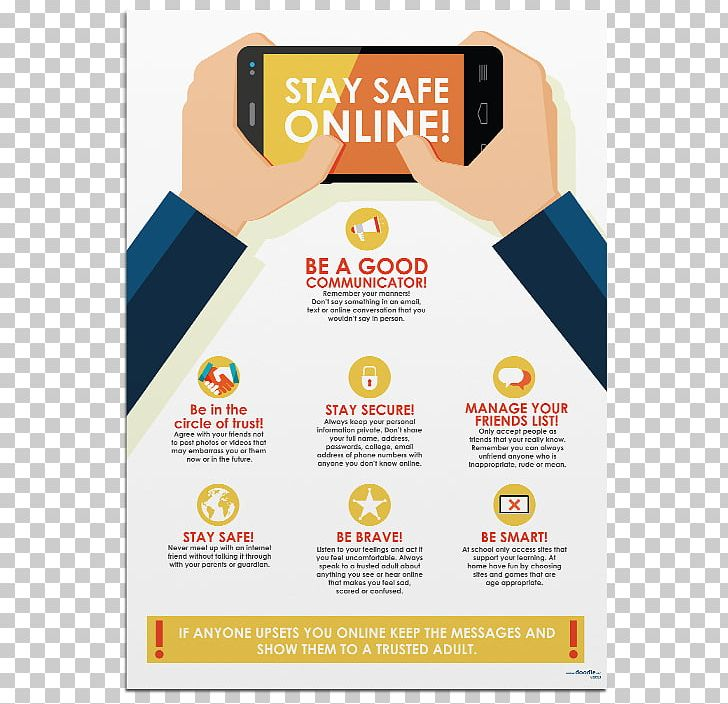 Poster Internet Safety Png Clipart Art Brand Child Doodle Flyer Free Png Download