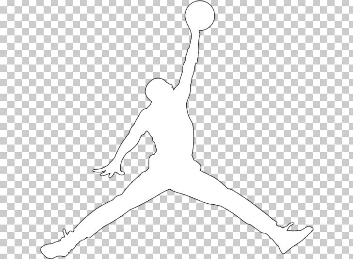 Jumpman Air Jordan Logo Nike PNG, Clipart, Air Jordan Logo, Area, Arm, Artwork, Black And White Free PNG Download