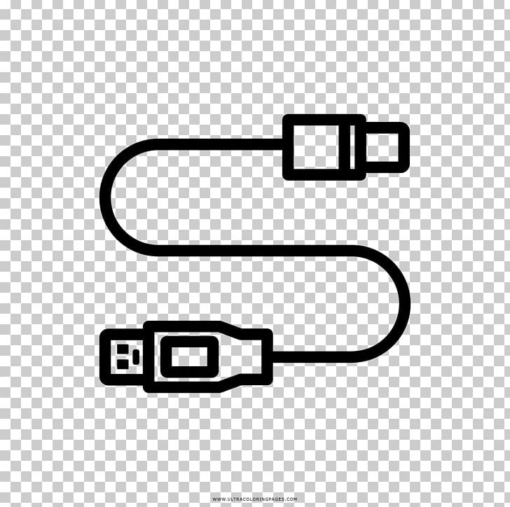 Drawing USB Electrical Cable Battery Charger Coloring Book PNG, Clipart, Angle, Area, Battery Charger, Black, Black And White Free PNG Download