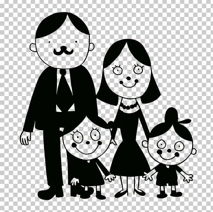 Cartoon Black Family Of 4 , Free Transparent Clipart - ClipartKey