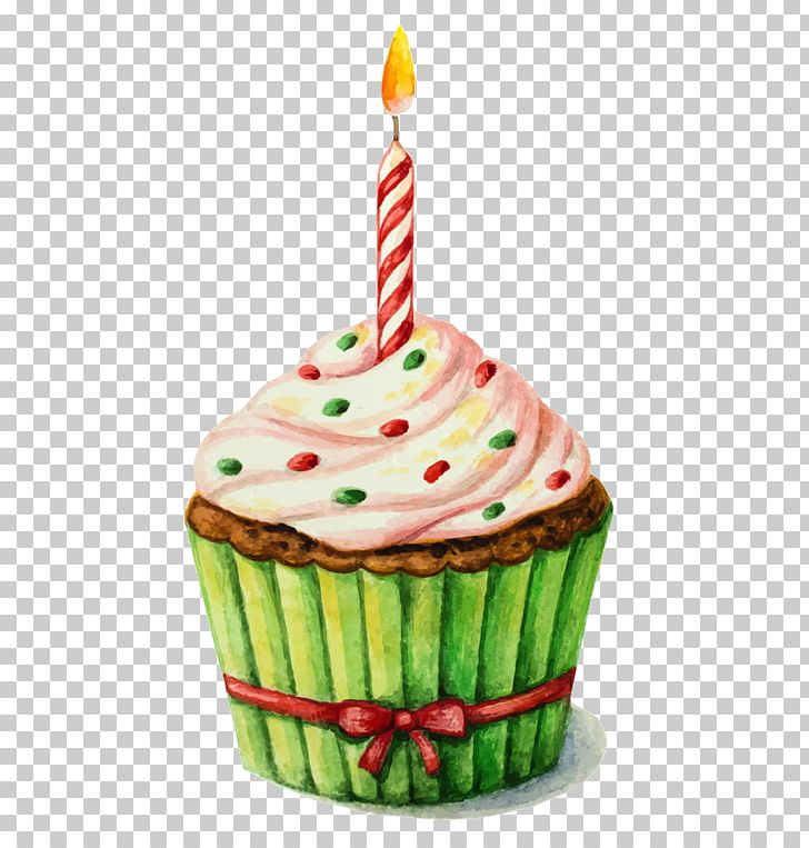 Birthday cake watercolor. Painting png clipart