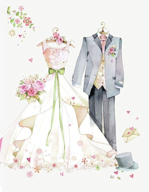 -painted Wedding PNG, Clipart, Creative, Creative Wedding, Dress, Dresses, Formal Free PNG Download