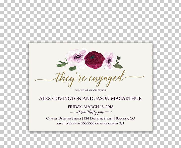 Wedding Invitation Flower Floral Design Engagement Party Purple PNG, Clipart, Color, Engagement, Engagement Party, Floral Design, Flower Free PNG Download