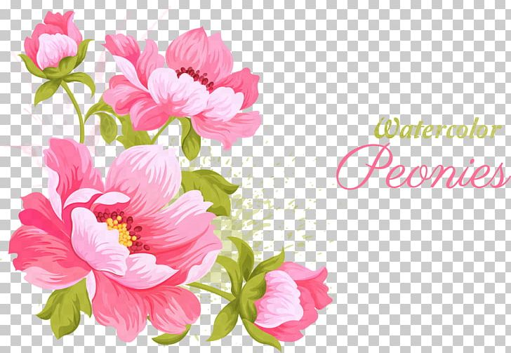 Pink Flowers Wedding Invitation Watercolor Painting PNG, Clipart, Annual Plant, Artificial Flower, Dahlia, Design, Flower Free PNG Download