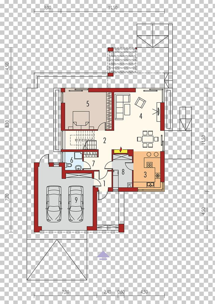 Floor Plan House Square Meter Garage PNG, Clipart, Angle