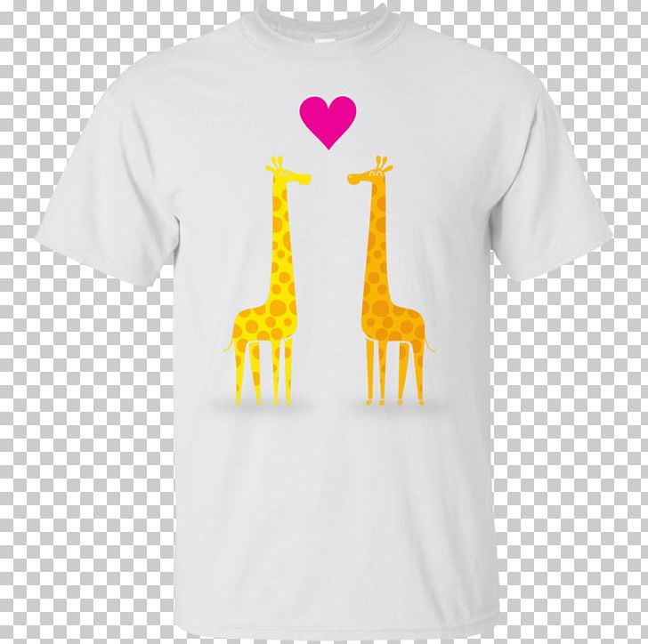 T-shirt Giraffe Sleeve Cotton Neck PNG, Clipart, Clothing, Cotton, Couple Cartoon, Fishing, Flag Free PNG Download