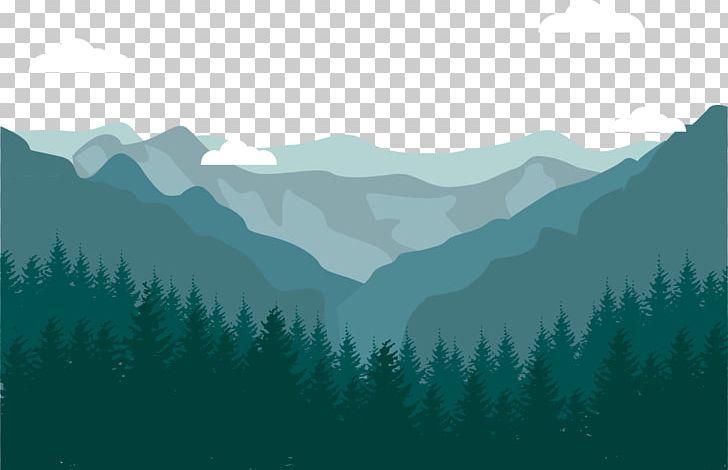 Flat Design Landscape Mountain Png Clipart Alpine Cloud Clear