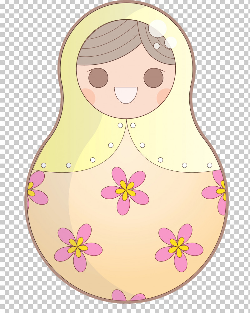 Cartoon Character Pink M Pattern Flower PNG, Clipart, Cartoon, Character, Character Created By, Colorful Russian Doll, Flower Free PNG Download