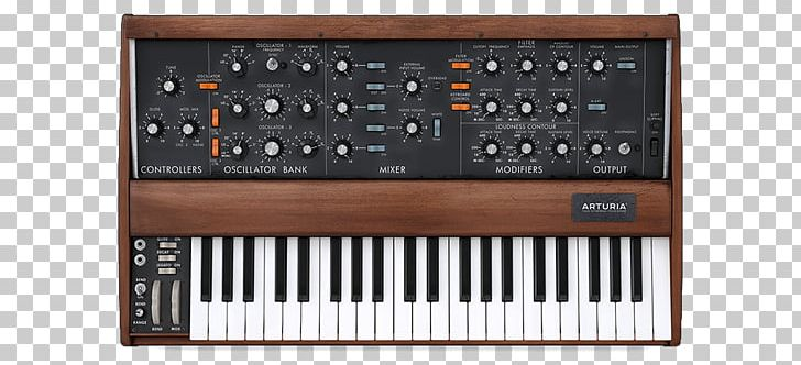 Minimoog Sound Synthesizers Arturia Mini V Virtual Modelling Synth