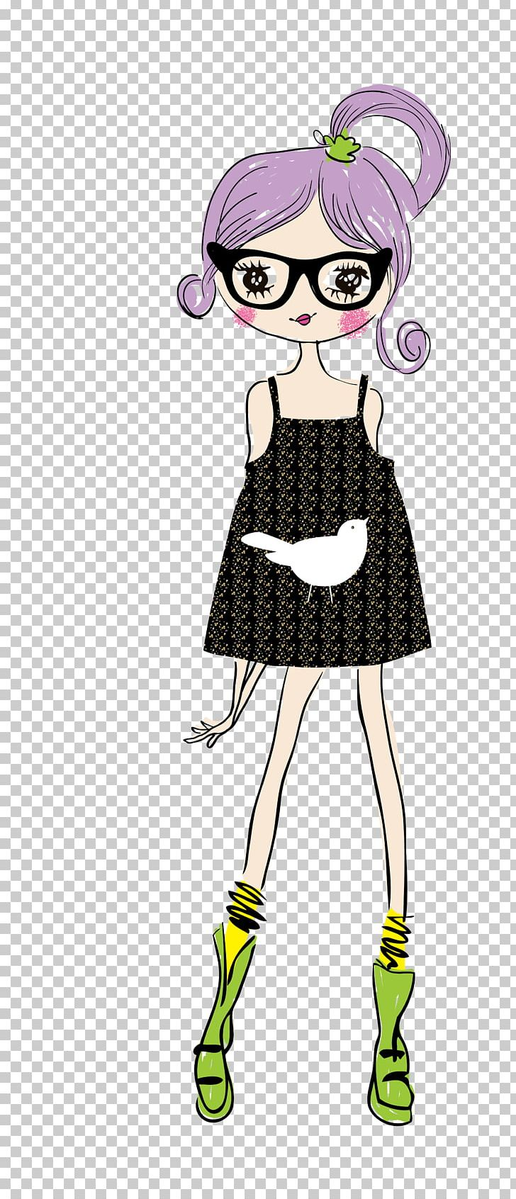 Cartoon Drawing Animation Girl Illustration Png Clipart Anime