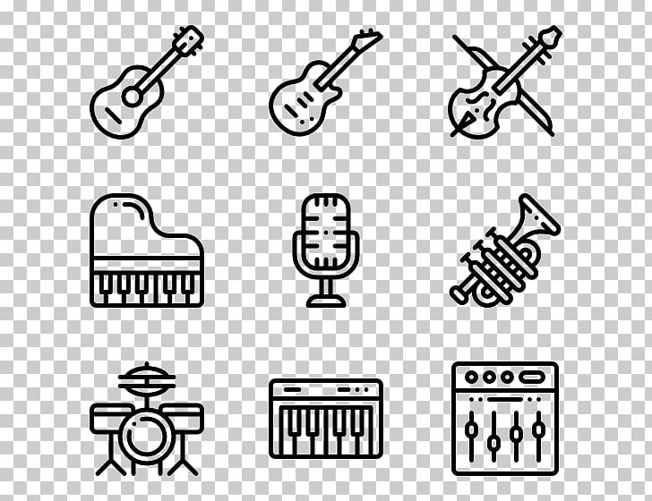 Musical Instruments Computer Icons PNG, Clipart, Angle, Art, Black, Black And White, Brand Free PNG Download