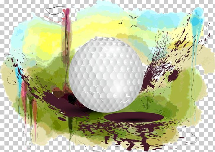 Golf watercolor. Course ball club png