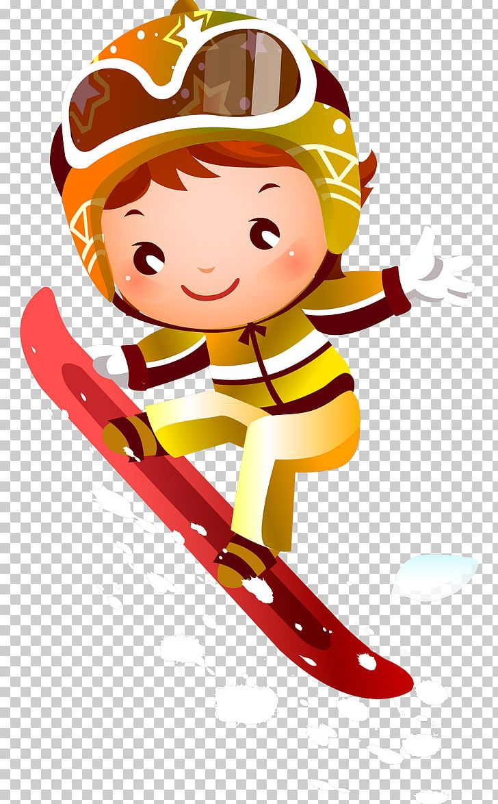 Snowboarding Skiing Png Clipart Art Boy Cartoon Child Children Free Png Download