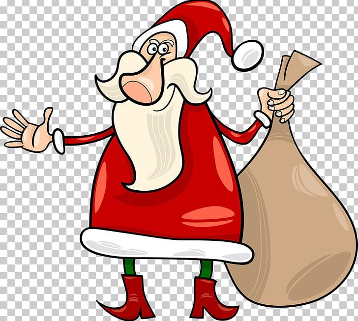 Santa Claus Christmas Cartoon Illustration PNG, Clipart, Animation, Bags, Carrying, Cartoon, Fictional Character Free PNG Download