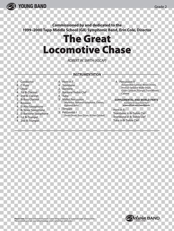 Great Locomotive Chase Sheet Music Trumpet Alto Saxophone