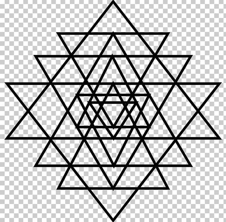 Lakshmi Sri Yantra Symbol PNG, Clipart, Angle, Area, Black And White