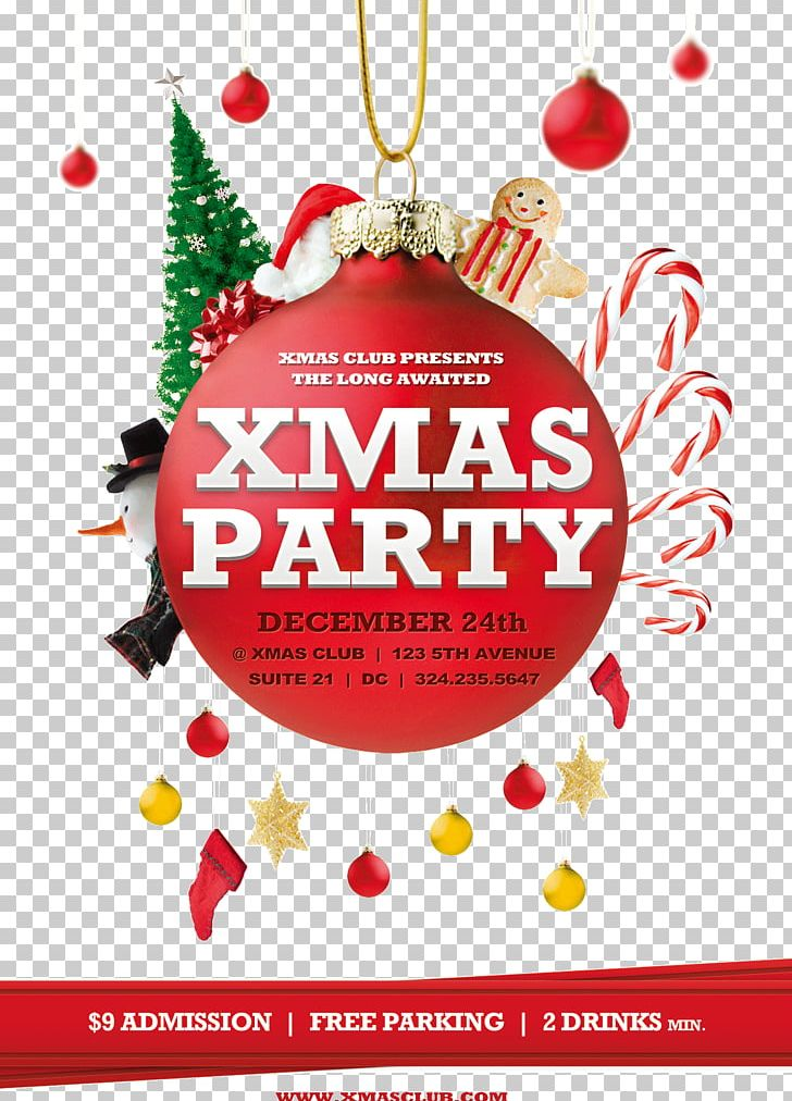 Christmas Poster Flyer Party Template PNG, Clipart, Birthday Party, Brochure, Christmas, Christmas Card, Christmas Decoration Free PNG Download