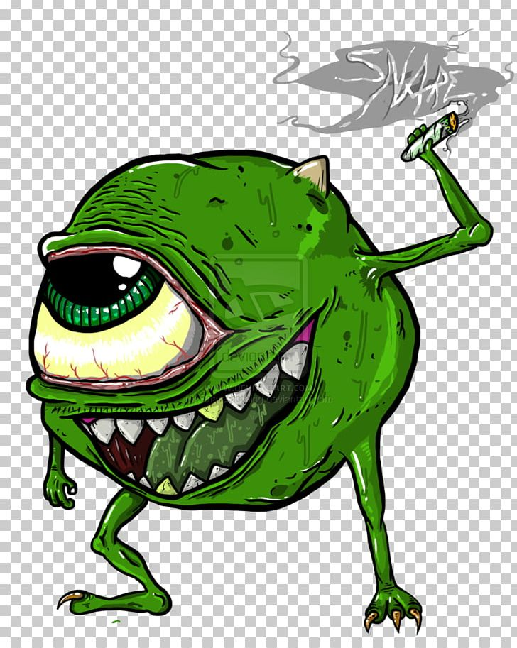 Mike Wazowski Drawing Cannabis Smoking Monsters Png Clipart