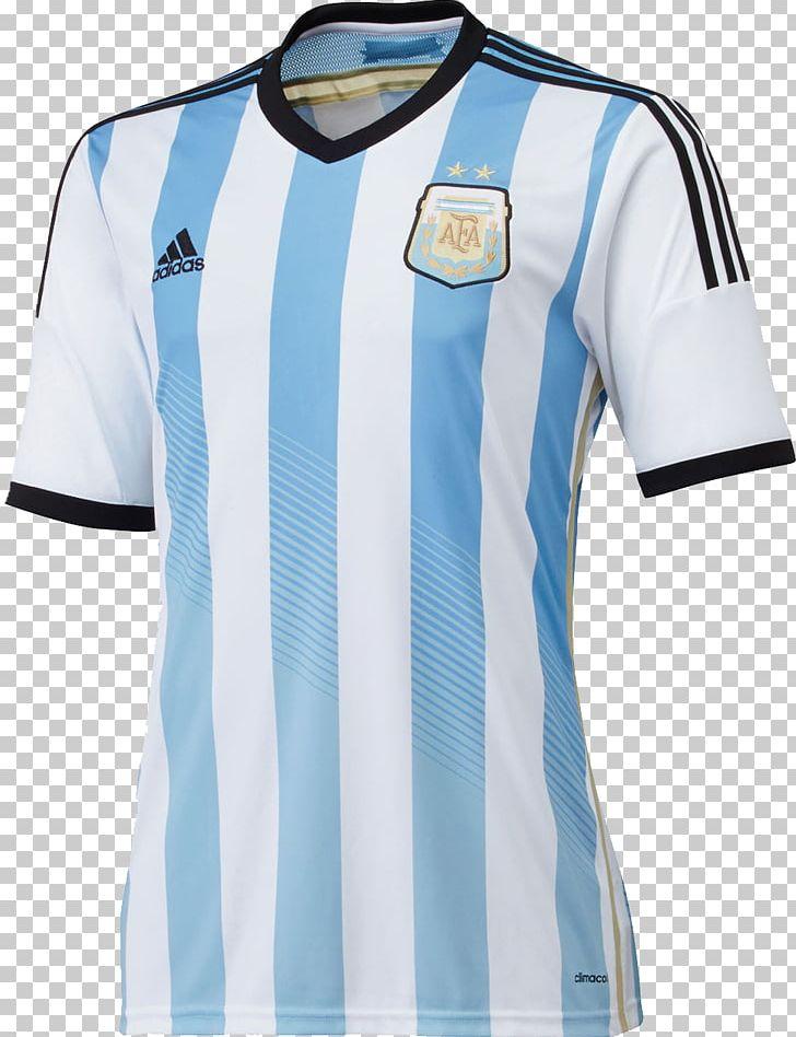 buy online 908ff b389e Argentina National Football Team T-shirt 2014 FIFA World Cup ...