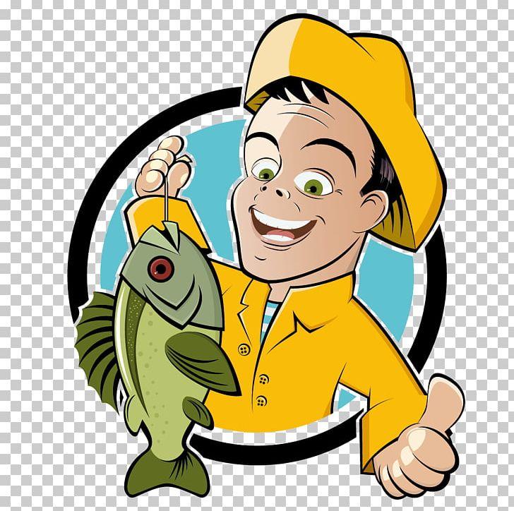 Fishing Cartoon Fisherman Png Clipart Animals Animation Aquarium Fish Art Artwork Free Png Download