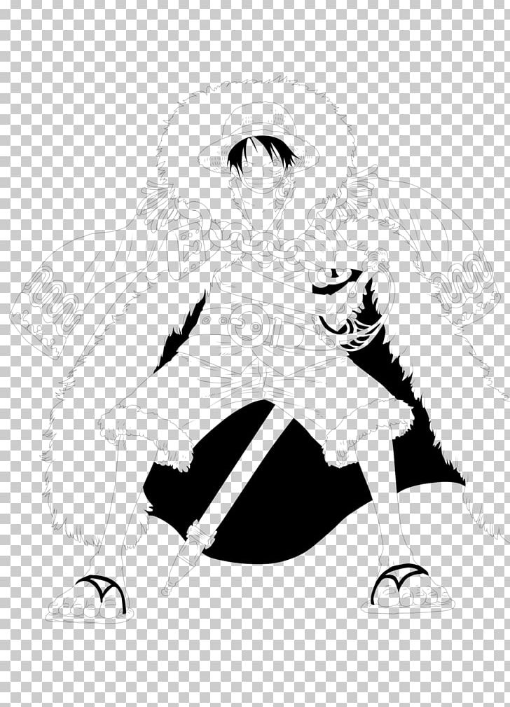 Monkey D Luffy Line Art Character Sketch Png Clipart Free