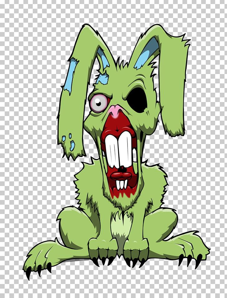 Easter Bunny Rabbit Drawing Zombie Art Png Clipart Art Artwork Bunny Rabbit Carnivoran Cartoon Free Png