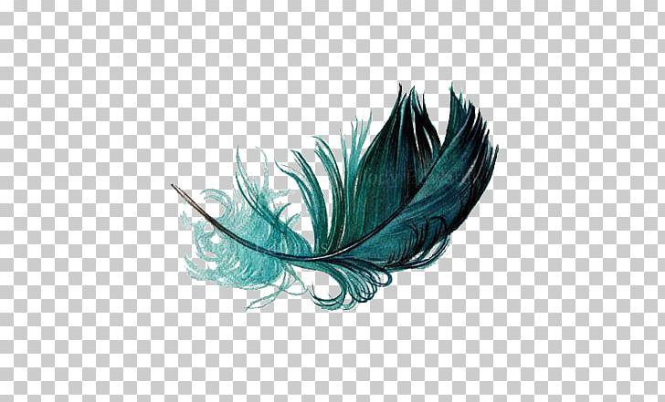 The Floating Feather Bird Watercolor Painting PNG, Clipart, Animals, Aqua, Art, Blue, Blue Feather Free PNG Download