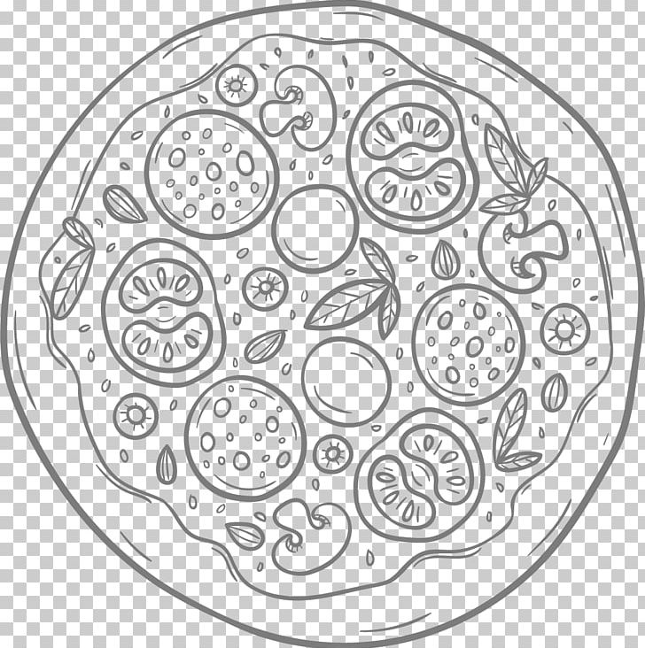 Pizza Coloring Book Empanadilla Colouring Pages PNG, Clipart, Area, Black And White, Child, Circle, Coloring Book Free PNG Download