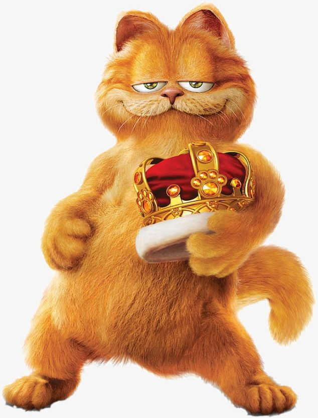 Garfield Png Clipart Cartoon Cat Crown Garfield Garfield Clipart Free Png Download